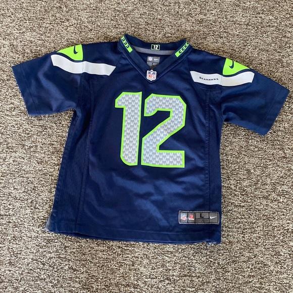 Kids Seattle Seahawks jersey size L7